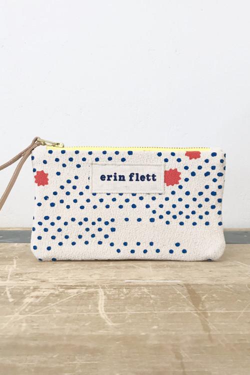 Erin Flett - Royal Night Sky Wristlet Zipper Bag
