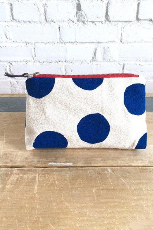 Erin Flett - Navy Big Dot Makeup Zipper Bag