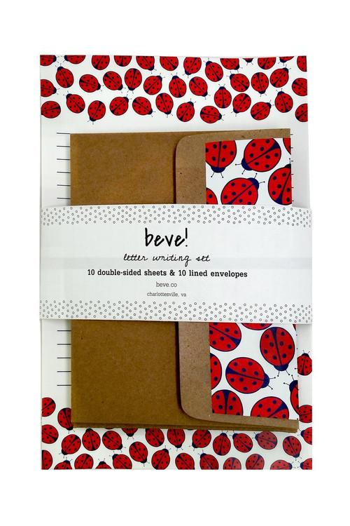 Beve! -  Ladybug Letter Writing Set