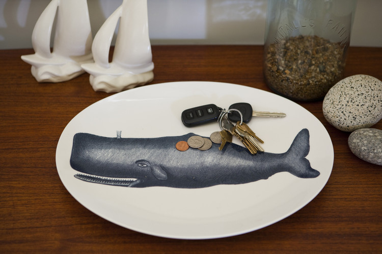 Thomas Paul - Scrimshaw Moby Whale Tray