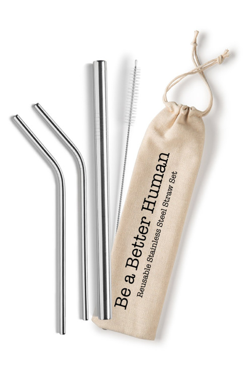 Shell Creek Sellers - Reusable Stainless Steel Straw Set
