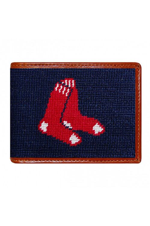 Smathers & Branson - Boston Red Sox Needlepoint Bi-Fold Wallet