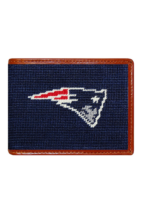 Smathers & Branson - New England Patriots Needlepoint Bi-Fold Wallet