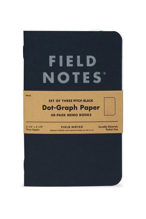 Field Notes - Pitch Black Memo Set of 3 Notebooks