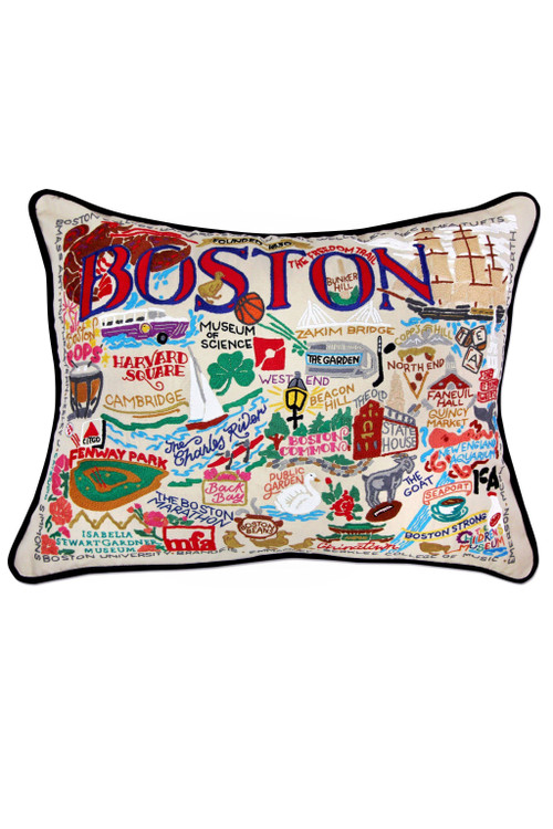 Catstudio - Boston Hand-Embroidered Pillow