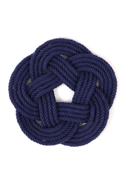 Mystic KnotWorks - Navy Blue Sailor Knot Coasters (Set of 4)