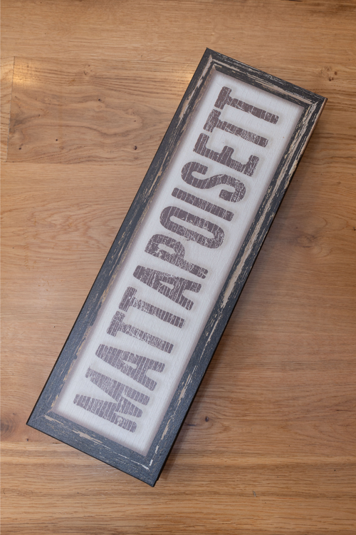 Distressed Mattapoisett Sign - Brown & Brown