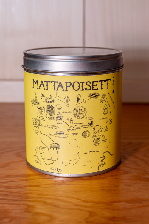 Mattapoisett Map Candle - Yellow