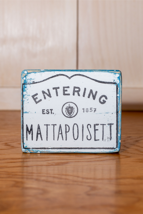 Mini Mattapoisett Shelf Sign