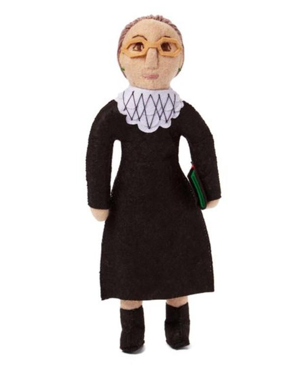 Ruth Bader Ginsburg Handmade Wool Doll
