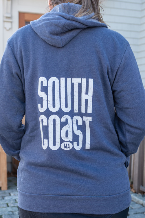 South Coast Massachusetts Zip-Up Hoodie Sweatshirt