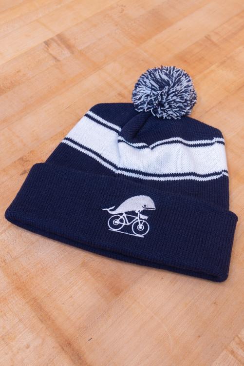 TWGS Striped Winter Pom Hats
