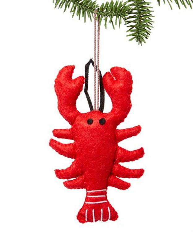 Handmade Felt Lobster Ornament