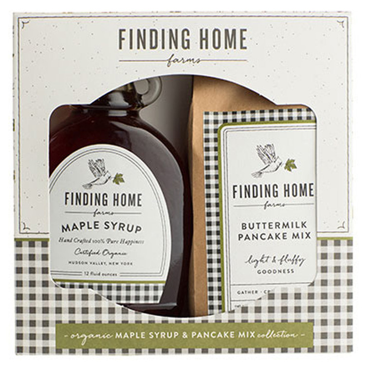 Finding Home Farms - Boxed Organic Maple Syrup & Pancake Mix Gift Set