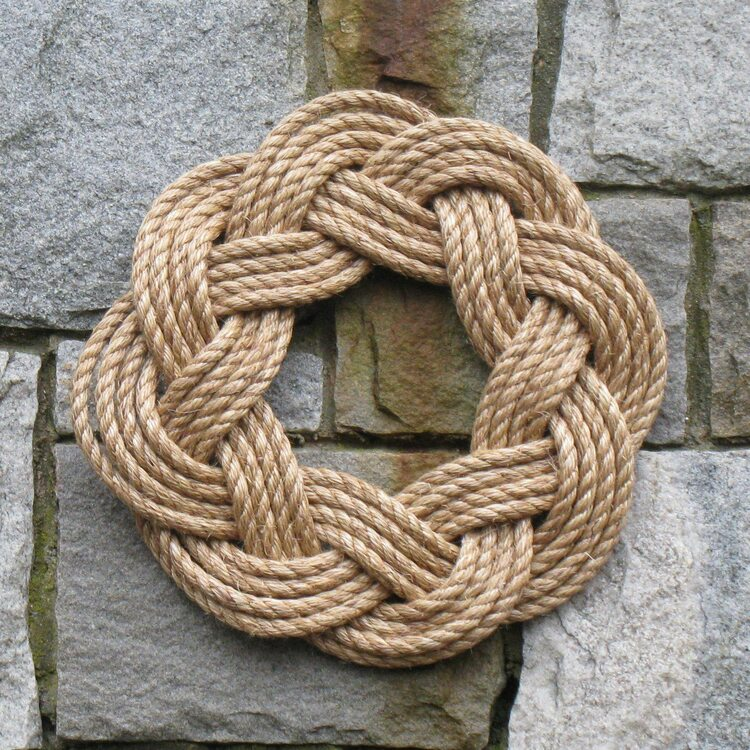 Mystic Knotworks - Nautical Manila Rope Wreath