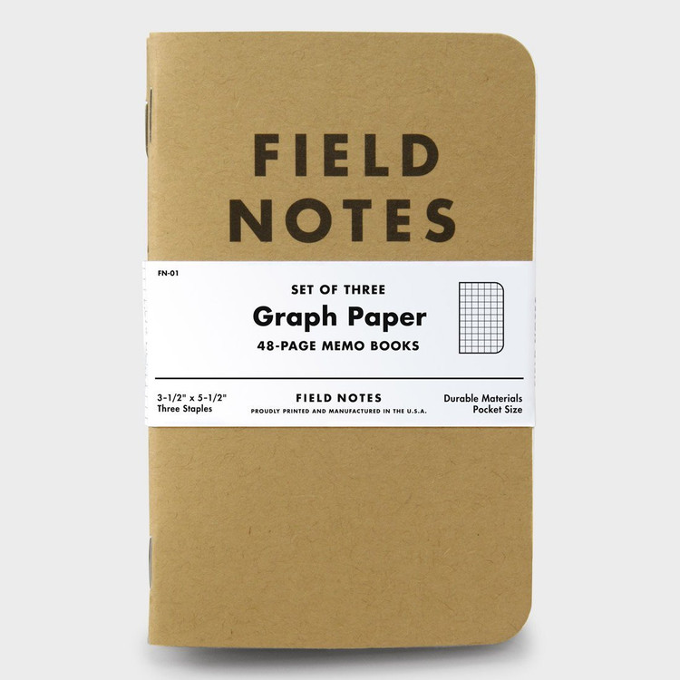 Field Notes - Graph Paper Notebook Set of 3