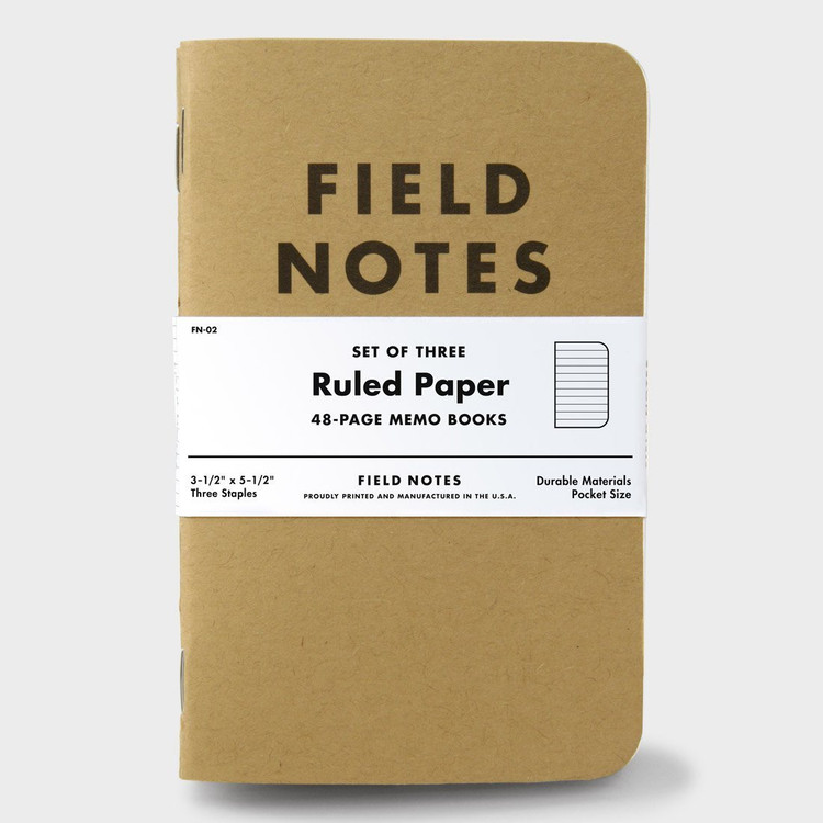 Field Notes - Ruled Paper Notebook Set of 3
