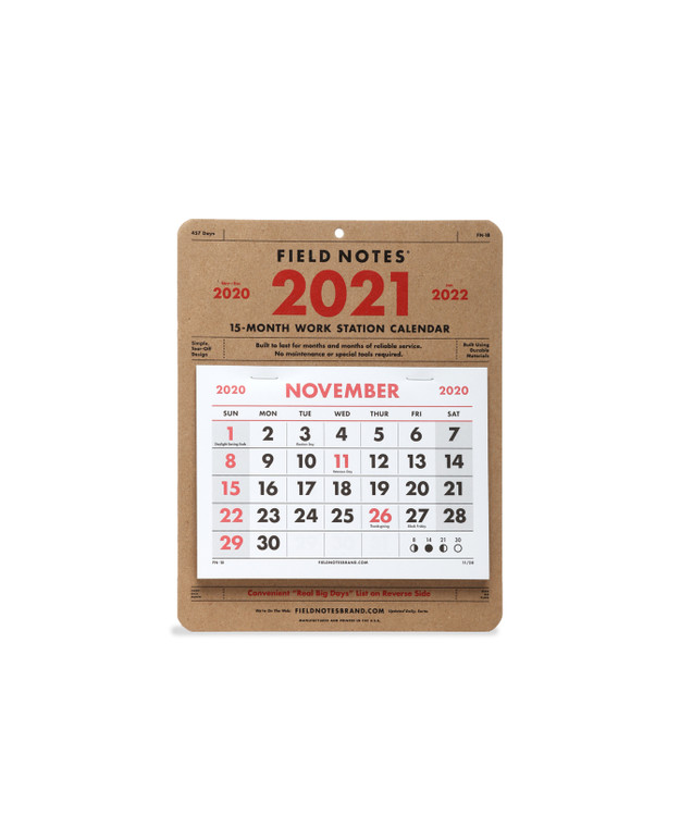 Field Notes - 2021 Work Station Calendar