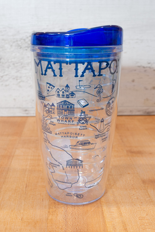 Mattapoisett Map 16 oz Tumbler