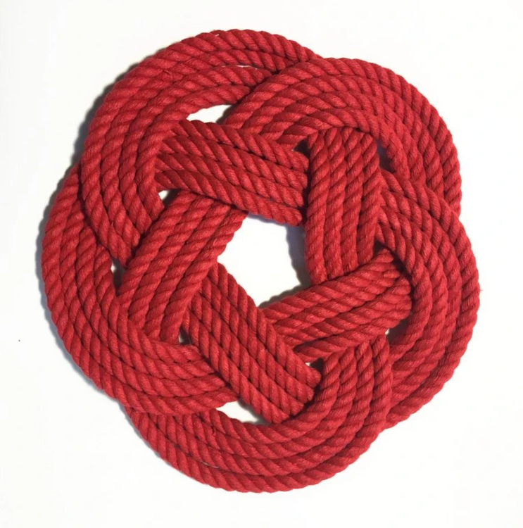 "Mystic Knotworks - 7"" Sailor Knot Trivet"