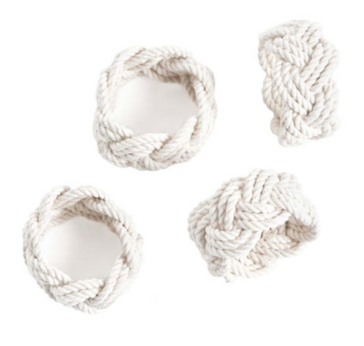 Nantucket Knotworks - Turks Head Napkin Ring (Set of 4)