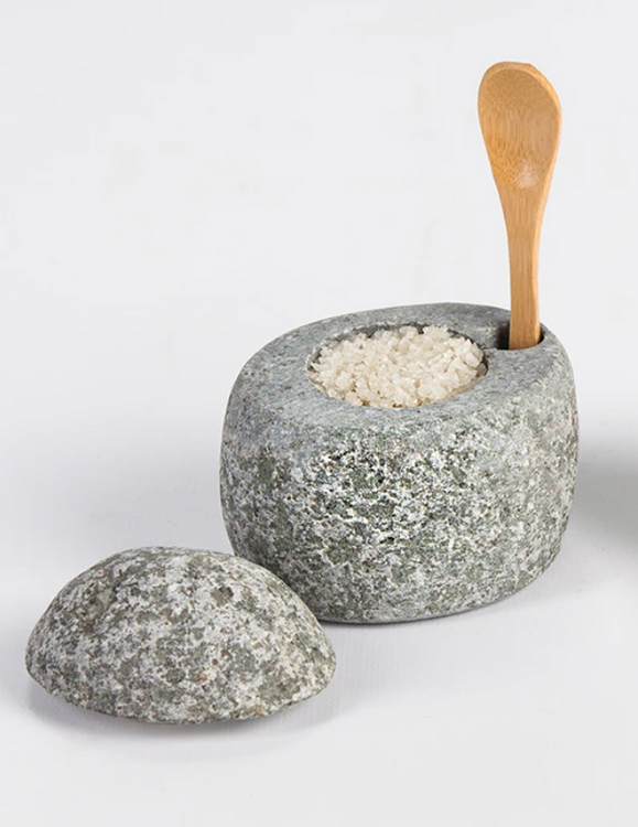 Funky Rock Designs - Beach Stone Salt Cellar