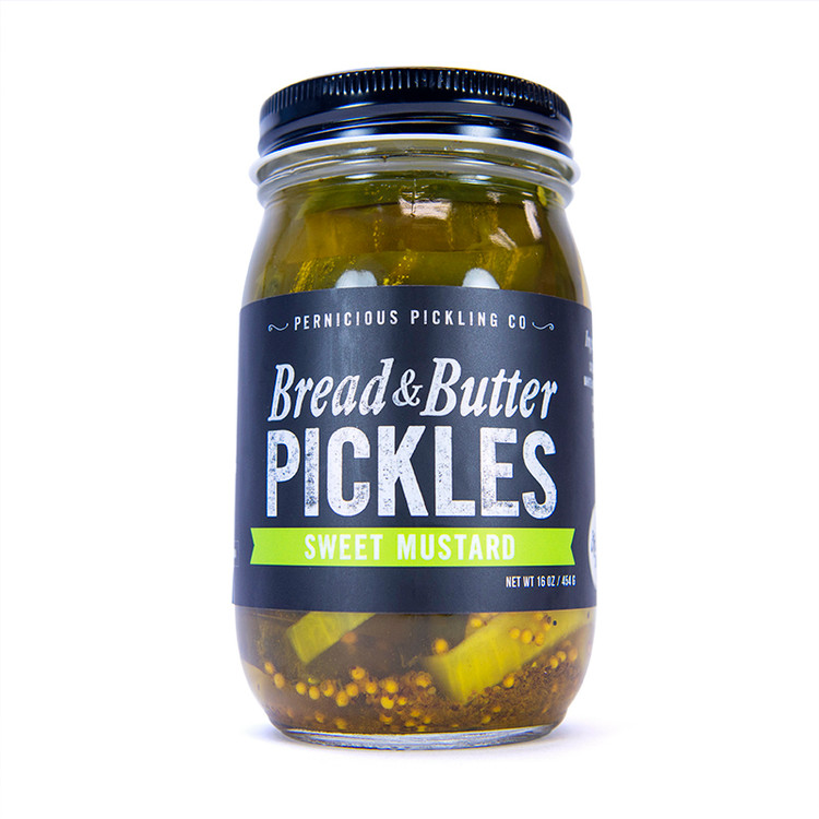 Pernicious Pickling Co - Sweet Mustard Bread & Butter Pickles