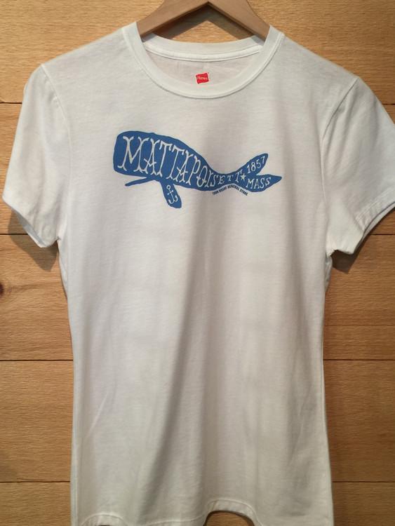 Mattapoisett Whale Women's Cut T-Shirt - White