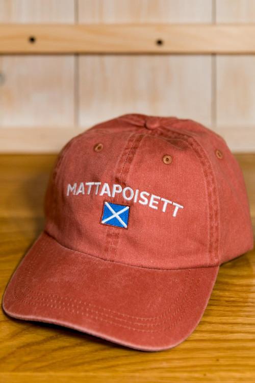 Mattapoisett & Nautical Flag Logo Baseball Hat - Nantucket Red