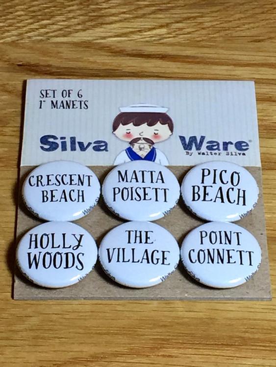 Mattapoisett Village Magnets - Set of 6 Magnets