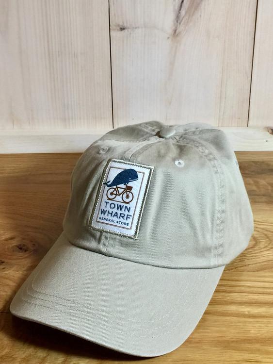 TWGS Logo Patch Baseball Hat - Bone Khaki