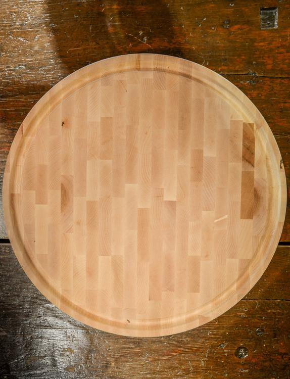 JK Adams - Maple End Grain Round Butcher Block Board