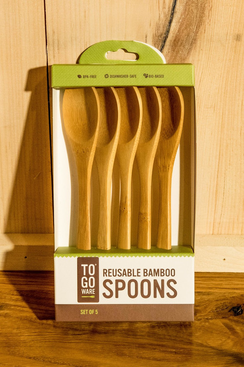 To-Go Ware - Reusable Bamboo Set of 5 Spoons