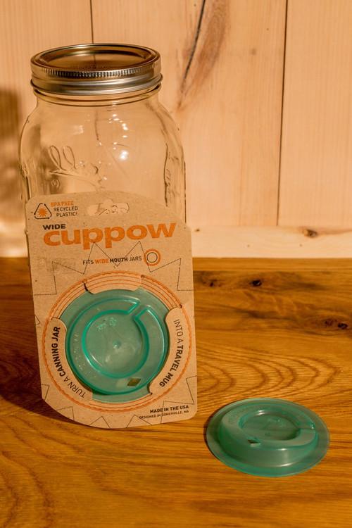 Cuppow - Wide Mouth Mason Jar Lid