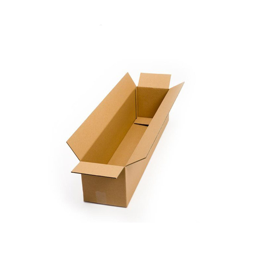 Postal Cardboard Box Mailing Shipping Carton 610x80x80mm Brown