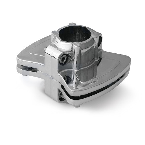 Two sides Glass - Pole Socket Holder / Bracket for 25mm Tube Rail