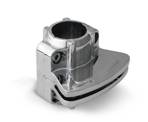 One side Glass - Pole Socket Holder / Bracket for 25mm Tube Rail