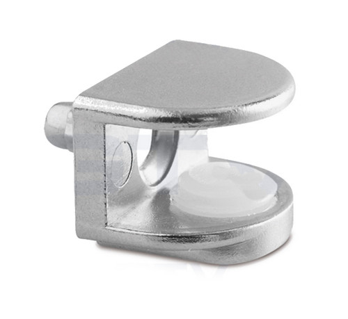Small Shelf Bracket Glass Shelf Support with Pin 5 - 8mm thickness Shelves