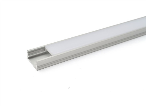 Aluminium Surface Profile 1m for LED Light Strip with Opal Cover