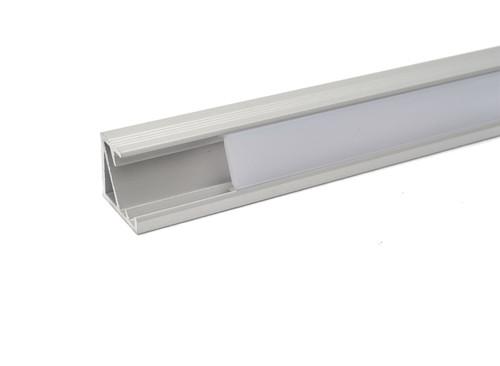 Aluminium Corner Profile 1m for LED Light Strip with Opal Cover
