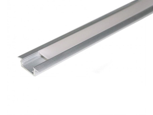 Aluminium Recessed Profile 1m for LED Light Strip with Opal Cover