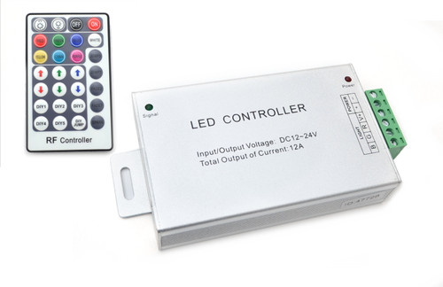 LED RGB Strip Controller RF / IR  , 6 - 12A Dimmer Remote Control