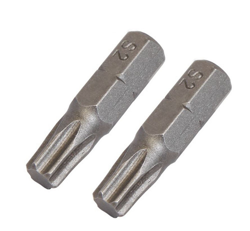 Torx TX15 S2 Steel Electric Screwdriver Insert Bits 25mm 2pack