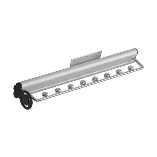 Retractable Rail Wardrobe Top Mounted Pull Out Retractable Rail Tie Hanger 450mm