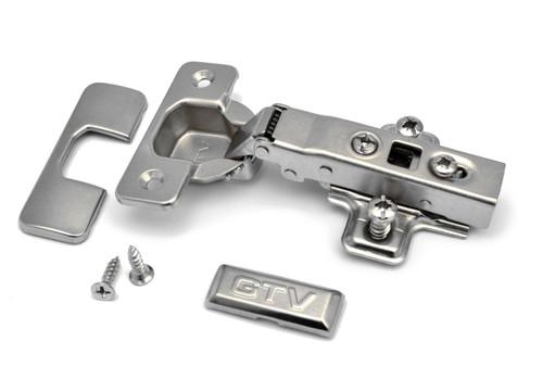 Soft close GTV 35mm full overlay kitchen cabinet door hinge & EU screws