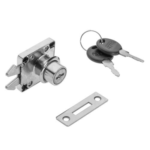 Security Double Hook Lock Cabinet Drawer Cupboard Locker + Keys Z202