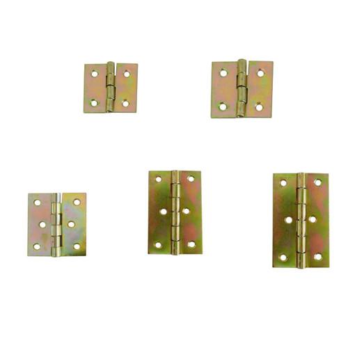 Folding Closet Cabinet Door Butt Hinge Brass Plated