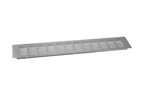Kitchen Plinth Vent 500x80mm Brushed Chrome