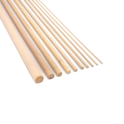 Beech Dowel Smooth Wood Rod Pegs - 1000mm length