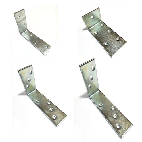 Strong Metal Joist Angle Corner Bracket Galvanised Silver